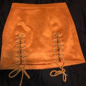 Rust/Brown/Orange mini skirt